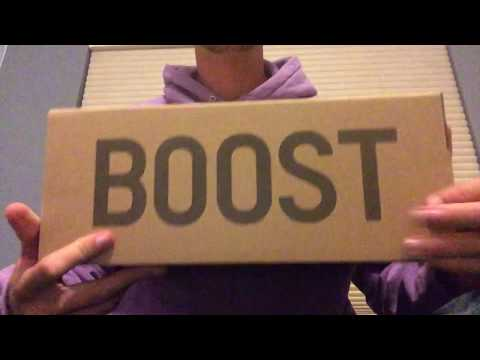 ASMR Sneakers Yeezy Boost 350 V2 'Cream' unboxing, cleaning, tapping, and scratching