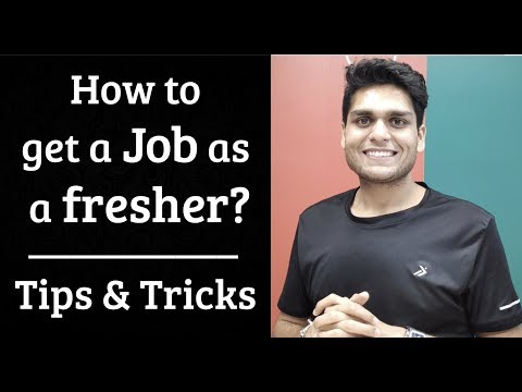 How to get a job as a fresher? Tips & Tricks to apply for off-campus jobs