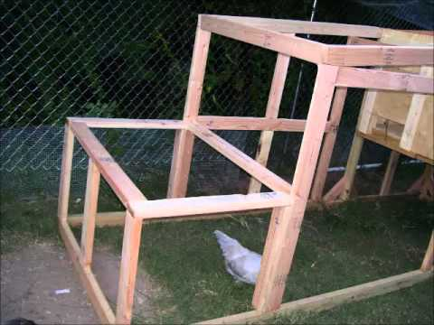How to Build a 4 foot by 4 foot chicken coop with a 12 foot chicken run