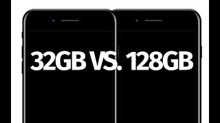 What is the difference between iPhone 7 32gb vs. 128gb - iPhone 7 Plus 32gb vs 128gb