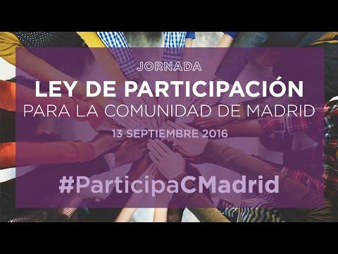 Jornada ley de participación para la Comunidad de Madrid