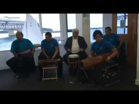 Cook Island drumming - Auckland Habour