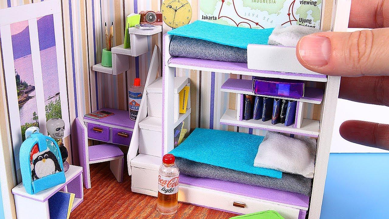 Diy Miniature Dollhouse Room Not A Kit Youtube