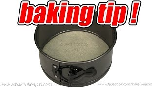 How To Line A Springform Pan With Baking Paper Tutorial - FAST BAKING TIP !