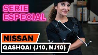 Cómo cambiar Cable de accionamiento freno de estacionamiento NISSAN QASHQAI / QASHQAI +2 (J10, JJ10) - vídeo gratis en línea