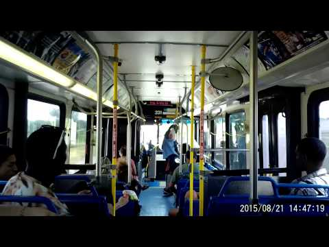 VIA bus route 14 in San Antonio, Texas on Friday August 21, 2015