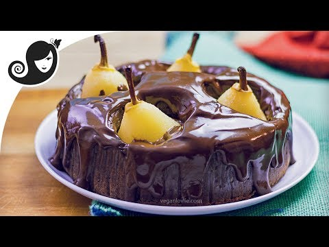 Pear Chocolate Cake Recipe Eggless Chocolate Cake in Pressure Cooker [baking option]