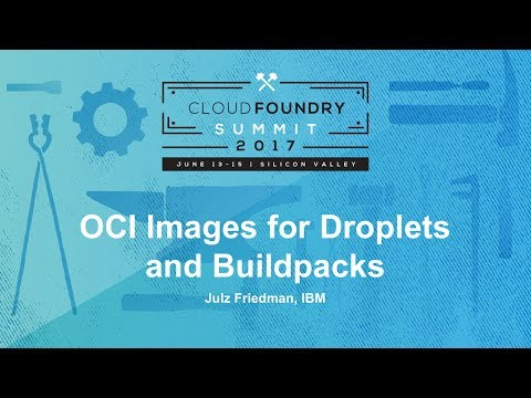 OCI Images for Droplets and Buildpacks