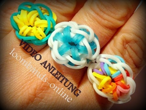 Loom Bands Anleitung Ring Rainbow Loom Starbust Ring