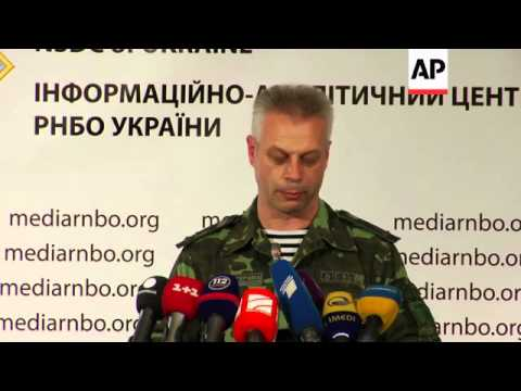 Ukrainian security chief says govt forces in control of Donetsk airport and have secured the release
