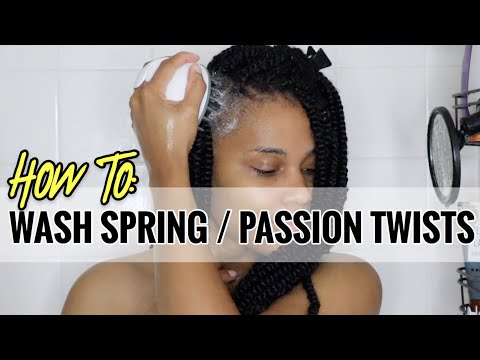 How To Wash Your Spring Twists / Passion Twists: DETAILED TUTORIAL