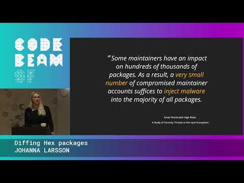 Diffing Hex Packages - Johanna Larsson | Code BEAM SF 20