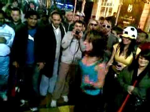 World Cup 2010 - Cape Town Fan Walk - Impromptu street Party Girl shocks onlooker