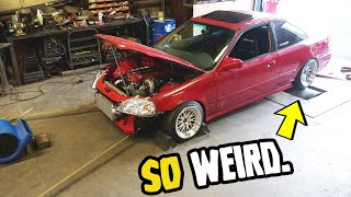 RWD Honda Civic Hits the DYNO for the FIRST time!! (DOES IT SURVIVE?!)