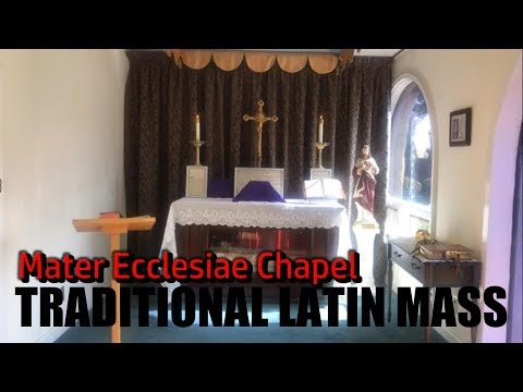 TRADITIONAL LATIN MASS from Mater Ecclesiae Chapel - Thu, Mar. 26, 2020