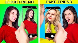 الاصدقاء المزورين مقابل الاصدقاء الحقيقيين / مواقف مضحكه بنتعرض لها