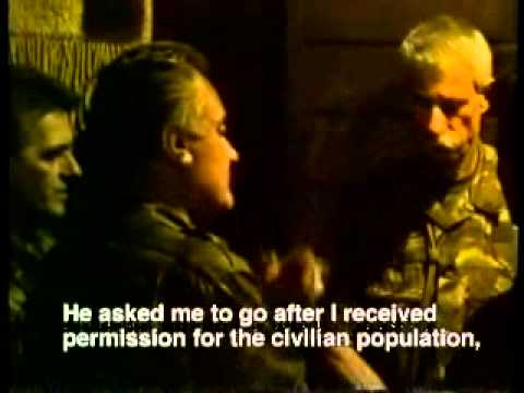Ratko Mladic - Srebrenica Fontana Hotel 1 - July 11, 1995