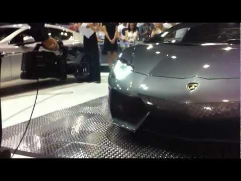 Lamborghini Aventador at Perth motor show 2011