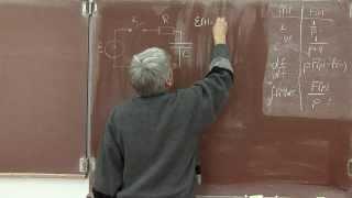 Лекция 125. Преобразование Лапласа. Применение.(Рассмотрены простые примеры использования преобразования Лапласа для расчета электрических цепей. Начато..., 2013-12-14T18:55:45.000Z)