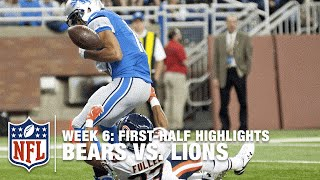 Bears vs. Lions First-Half Highlights (Week 6)   NFL