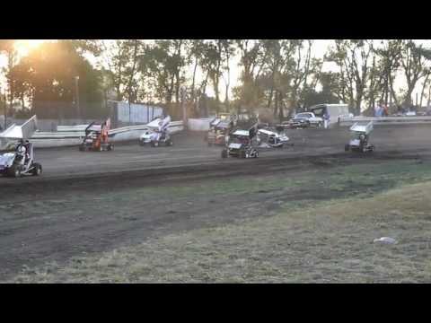 Nobles County Speedway Miniakota Micro Sprints A-Main Start 7-8-12