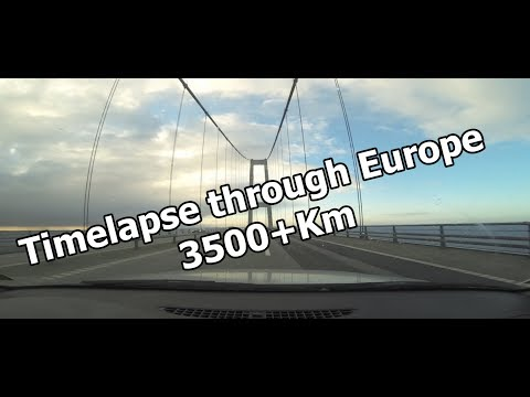 Drivelapse - 3500+Km : from Finland to France