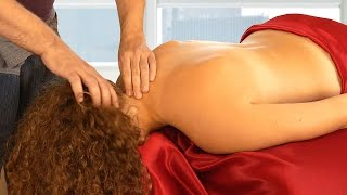 Relaxing Massage Therapy Techniques for Scalp, Neck & Back, HD Bodywork with Relaxing Music, ASMR