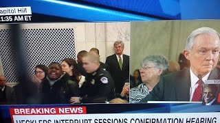 PROTESTERS SCREAM AND INTERRUPT JEFF SESSIONS HEARING! WHOA!