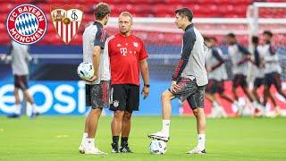 FC Bayern Abschlusstraining vor dem UEFA Super Cup gegen den FC Sevilla