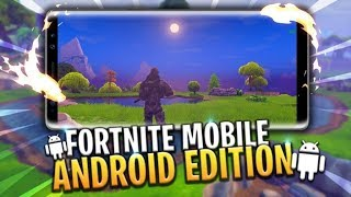 Fortnite Mobile on ANDROID IS FINALLY OUT! **FIRST REACTION** TRYING TO GET MY FIRST WIN!