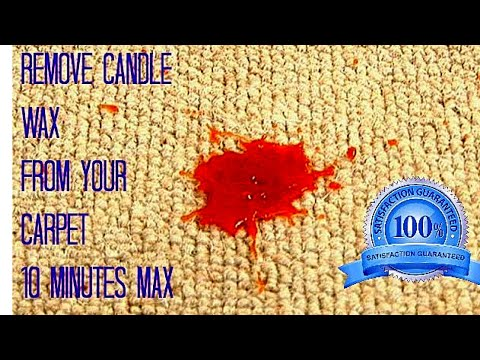 DIY Remove Candle Wax From Your Carpet by Stylist Raven