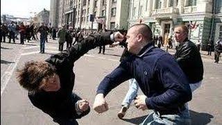 Кавказцы против Байкеров !!!  Месиво с битами из за девушки !!!