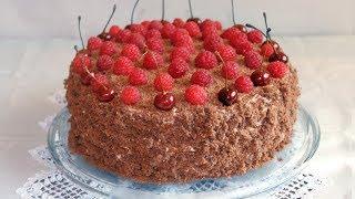 შოკოლადის ტორტი ხილით