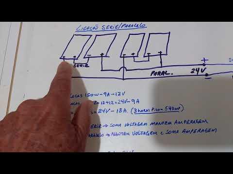 Energia Solar #8 -Iniciantes - Projeto 24 Volts...