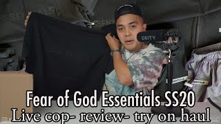 HUGE Fear of God Esseฑtials Haul and Review SS2020