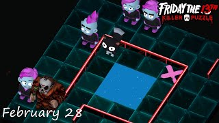 Friday the 13th: Killer Puzzle - Daily Death February 28 Walkthough (iOS, Android)