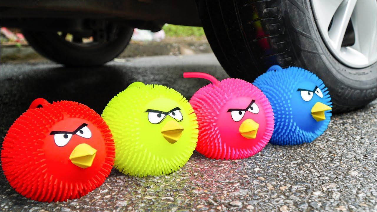 Crushing Crunchy & Soft Things by Car! Experiment Car vs M&M & Balloon Slime | Crunchy Car