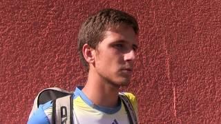 Vít Kopřiva po prohře v 1. kole čtyřhry na turnaji Futures v Ústí n. O.