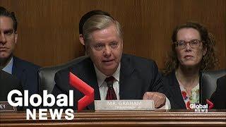 Lindsey Graham reads Peter Strzok texts calling Trump a 'f*cking idiot'