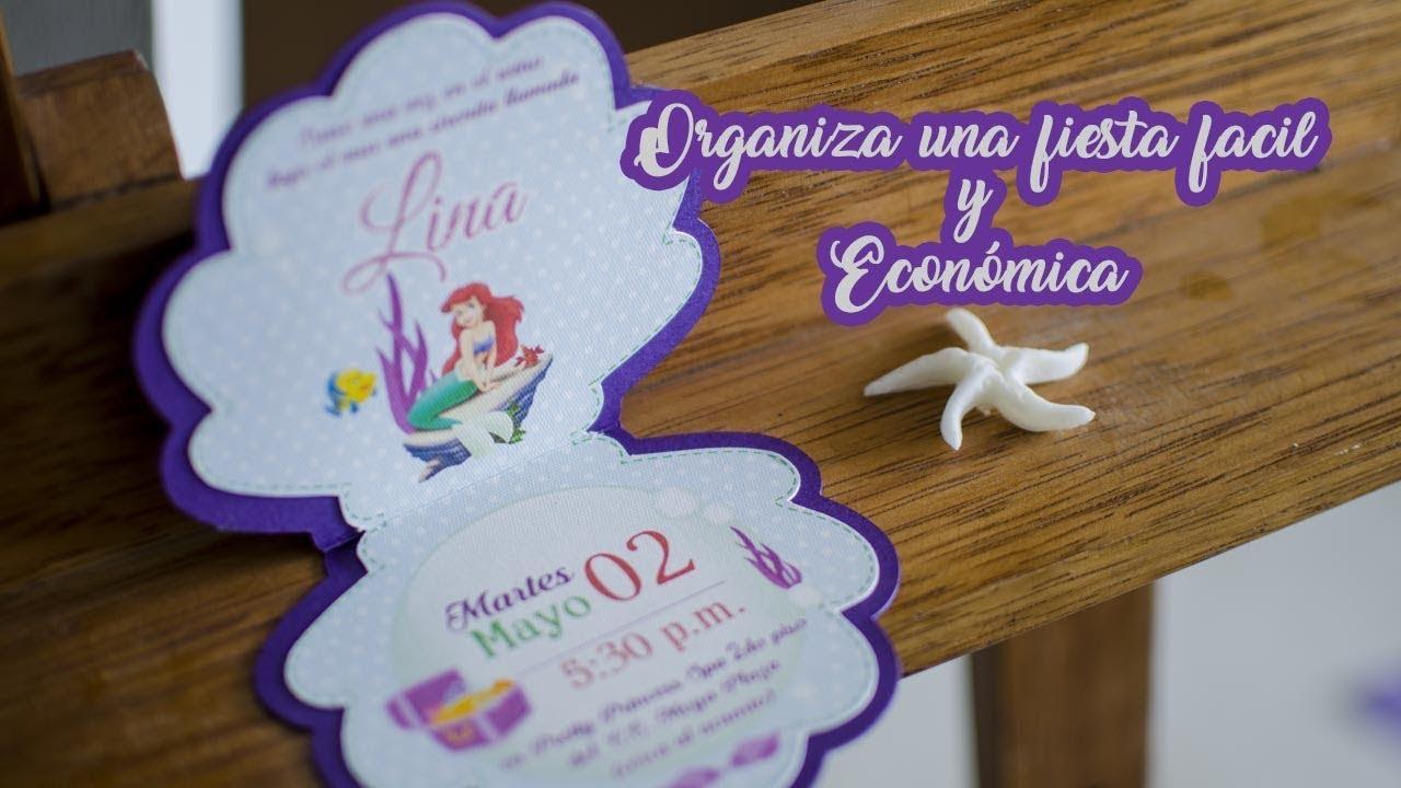 Ideas Fáciles Y Económicas Para Fiesta De Sirenita Easy Ideas For Mermaid Party