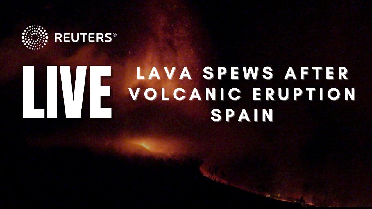 Volcano erupts on Spain's La Palma island, spewing lava and ...