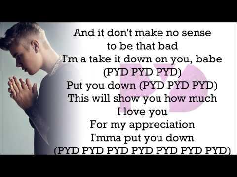 Justin Bieber feat. R. Kelly - PYD (with Lyrics)