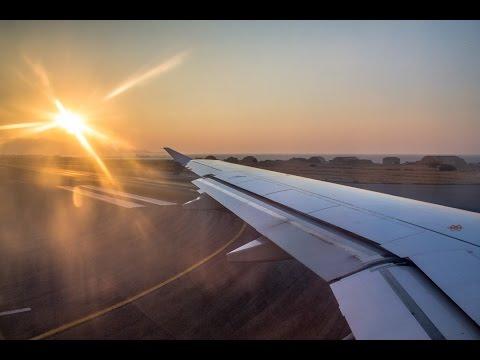 Germanwings Airbus A320 AMAZING SUNSET takeoff in Heraklion! (Full HD!)