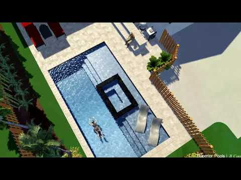 Superior Pools 3D Swimming Pool Design Ideas Infinity Edge Spa 360 Spill (Watch In 4K)