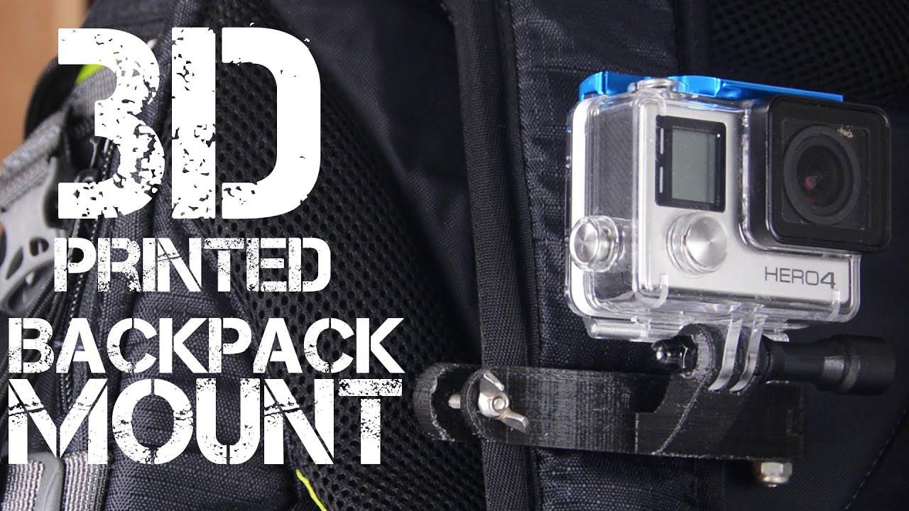 GoPro BackPack Strap Mount - 3D Printing Thursday