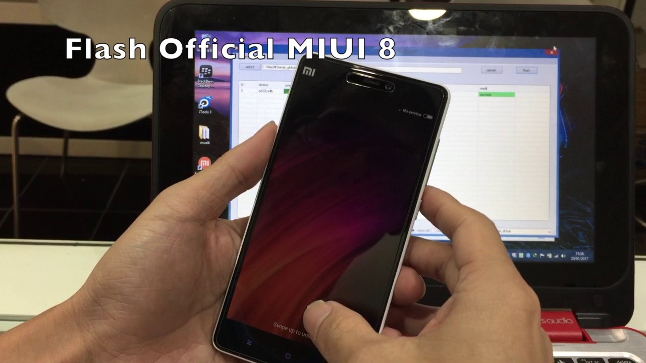 Flash Mi4i ke MIUI 8 Official via FastBoot
