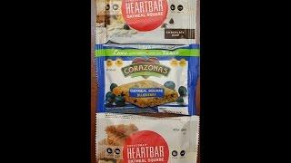 From California: Corazonas Heart Bar Chocolate Chip, Blueberry & White Chocolate Macadamia Review