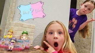 Surprise Gender Reveal Babies Toy Scavenger Hunt! Is It A Boy or Girl?!!