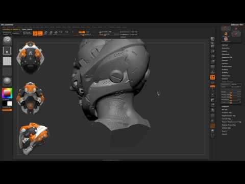 CGI 3D Tutorials : Zbrush Surface Variation Alpha Tiling & Tracks Brush