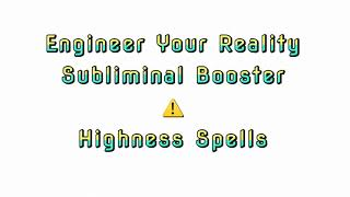 Subliminal Booster: Engineer Your Reality